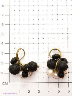 Серьги Polina Selezneva                                                                                                              черный цвет