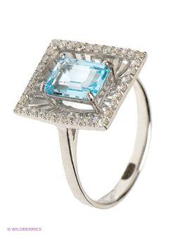 Ювелирные Кольца Balex                                                                                                              голубой цвет