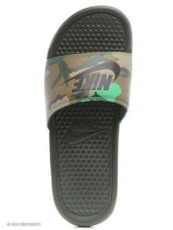 Шлепанцы Nike                                                                                                              зелёный цвет