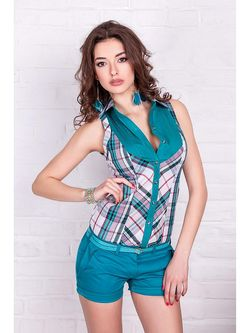 Блузки Vision Fashion Store Vision Fashion Srore                                                                                                              Бирюзовый цвет