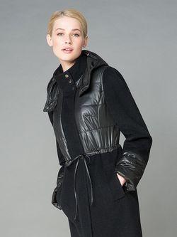 Пальто Pompa                                                                                                              черный цвет