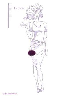 Клатчи Модные истории                                                                                                              фиолетовый цвет