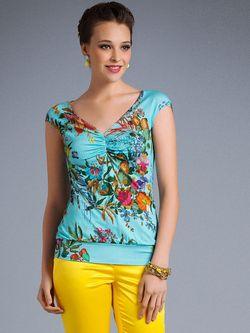 Блузки Арт-Деко                                                                                                              голубой цвет