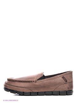 Мокасины Crocs                                                                                                              коричневый цвет