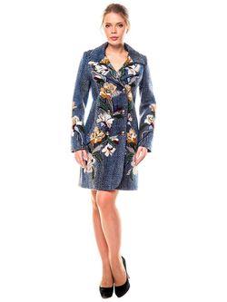 Пальто Yukostyle                                                                                                              синий цвет