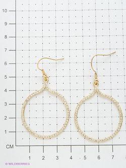 Серьги Atstyle247                                                                                                              Золотистый цвет