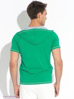 Футболка D.S                                                                                                              зелёный цвет