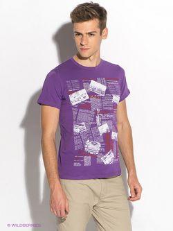 Футболка D.S                                                                                                              фиолетовый цвет