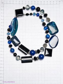 Колье Роман с камнем                                                                                                              синий цвет
