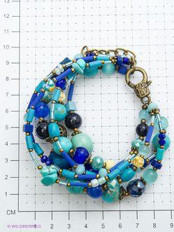 Браслеты Роман с камнем                                                                                                              синий цвет