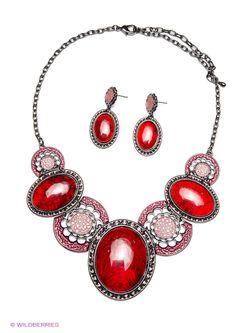 Комплекты Бижутерии Bijoux Land                                                                                                              красный цвет