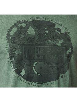 Футболка TOM TAILOR                                                                                                              зелёный цвет