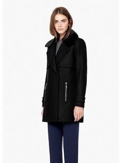 Пальто Mango                                                                                                              черный цвет