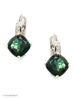 Ювелирные Серьги Balex                                                                                                              зелёный цвет