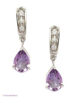 Ювелирные Серьги Balex                                                                                                              фиолетовый цвет