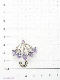 Броши Lovely Jewelry                                                                                                              фиолетовый цвет