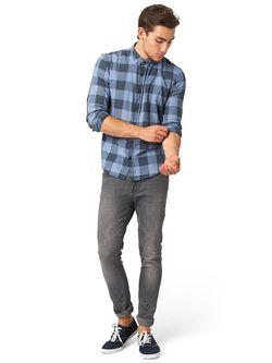 Рубашки TOM TAILOR                                                                                                              серый цвет