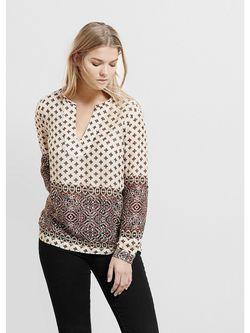 Блузки Violeta by Mango                                                                                                              бежевый цвет