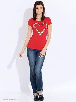 Блузки Oodji                                                                                                              красный цвет