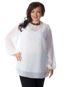 Блузки Wisell                                                                                                              белый цвет
