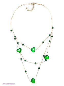 Колье Happy Garnets                                                                                                              зелёный цвет