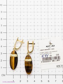 Ювелирные Серьги Migura                                                                                                              коричневый цвет
