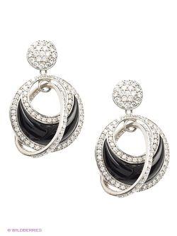 Ювелирные Серьги Happy Garnets                                                                                                              чёрный цвет