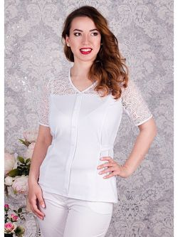 Блузки Царевна                                                                                                              белый цвет