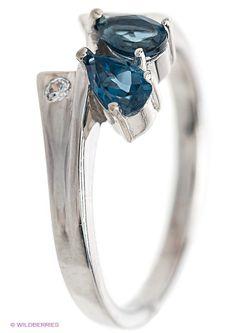 Ювелирные Кольца Silver Wings                                                                                                              голубой цвет
