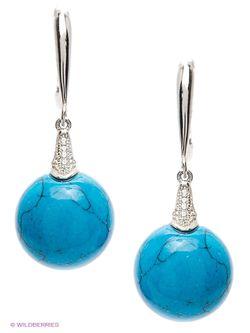 Ювелирные Серьги Silver Wings                                                                                                              синий цвет