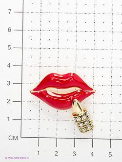 Броши Lovely Jewelry                                                                                                              красный цвет