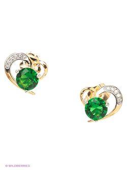 Серьги Lovely Jewelry                                                                                                              зелёный цвет