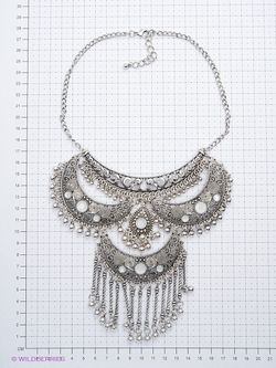 Колье Lovely Jewelry                                                                                                              серебристый цвет
