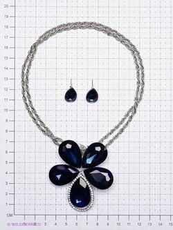 Комплекты Бижутерии Taya                                                                                                              синий цвет