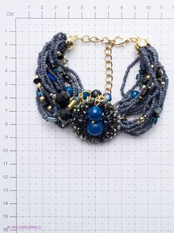 Браслеты Selena                                                                                                              синий цвет
