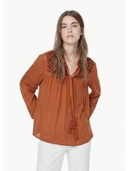 Блузки Mango                                                                                                              оранжевый цвет