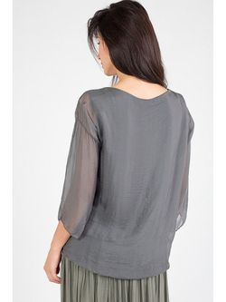 Блузки Amado Barcelona                                                                                                              серый цвет
