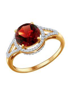 Ювелирные Кольца SOKOLOV                                                                                                              красный цвет