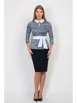 Блузки Emka Fashion                                                                                                              синий цвет