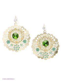 Серьги Bijoux Land                                                                                                              зелёный цвет