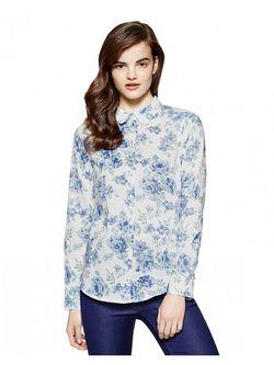 Рубашки United Colors Of Benetton                                                                                                              голубой цвет