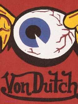 Лонгслив Von Dutch                                                                                                              красный цвет