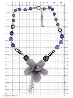 Колье Maru by Safri                                                                                                              синий цвет