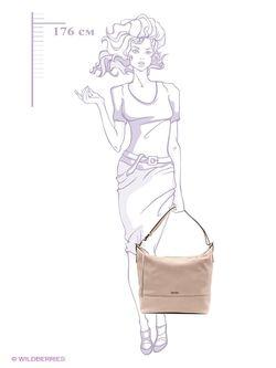 Сумки Calvin Klein                                                                                                              бежевый цвет