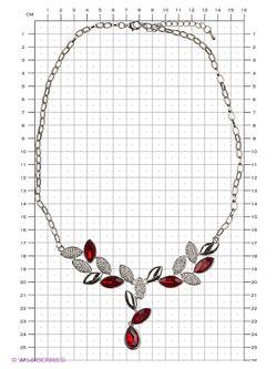 Колье Lovely Jewelry                                                                                                              красный цвет