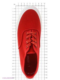 Кеды Affex                                                                                                              красный цвет