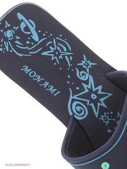 Шлепанцы Mon Ami                                                                                                              синий цвет