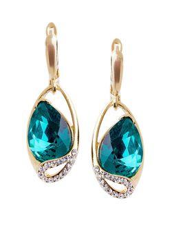 Серьги Bijoux Land                                                                                                              синий цвет