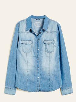 Рубашки Jennyfer                                                                                                              синий цвет