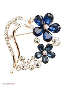 Броши Lovely Jewelry                                                                                                              синий цвет